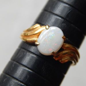 Jewelry - Gold-tone opal ring
